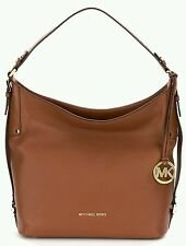 NWT Michael Kors Leather Bedford Belted Large Shoulder Soft Luggage Brown
