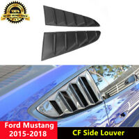 Shelby Mustang Side Window Vent Louver Shield Carbon for Ford GT350 5.0 GT GT500