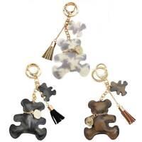 Fashion Teddy Bear Leather Tassel Key Ring Car Bag Charm Keychain Keyring Gi Hot