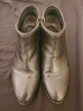 SEYCHELLES Black Leather Ankle Boots Sz 7