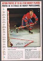 1966-67 General Mills Hockey Action Photo Full Back Box Bobby Rousseau Deking