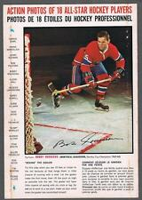 1966-67 General Mills Hockey Action Photo Full Back Box Bobby Rousseau Deking