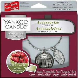Yankee Candle Charming Scents Car Air Freshener Charm Kit - Black Cherry
