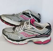 Saucony Women's ProGrid Guide 4 Silver Pink Black Running Shoes 10090-2 size 10