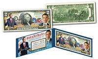 BARACK OBAMA Official *44th President* Genuine Legal Tender US $2 Bill w/ Folio