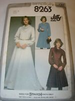 WOMENS UNCUT SIMPLICITY 8263 SEWING Pattern KNIT FABRIC SKIRT TOP DRESS SIZE 12