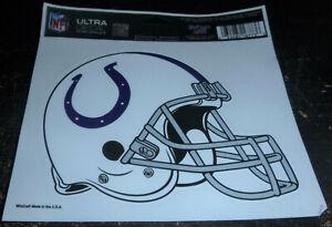 "Indianapolis Colts NFL Novelties 5"" Window Ultra Decal Helmet Shape Cut Logo"