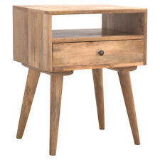 Modern Rustic Simple Hand Crafted Scandinavian Style Solid Wood Bedside Table