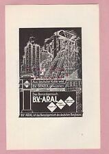 HAMBURG, Werbung 1936, B.V. Aral Einregulierung Kraftstoff Benzin Kohle
