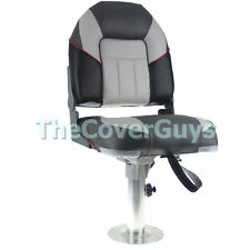 Boat Seat Premium Heavy Duty Centurion Folding Black/ Charcoal