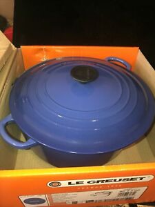 Le Creuset 7 1/4 qt Enameled Cast-Iron Round French Dutch Oven Marseille/Blue
