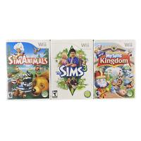Sim Animals The Sims 3 My Sims Kingdom Nintendo Wii Video Game Lot Bundle