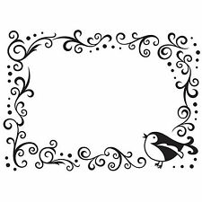 Bird Scroll Darice Embossing Folder for Cardmaking, Scrapbooking, etc