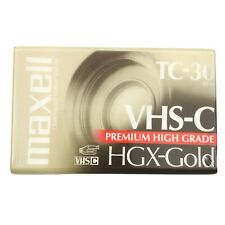 Maxwell Camcorder Video Cassette VHS-C Premium High Grade HGX-Gold TC-30 62m