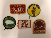 Lot of 5 Vintage Patchs Retro Jacket Funny Humor