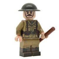 Lego Custom WW1 BRITISH OFFICER- Full Body Printing -NEW-