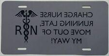 Nurse full size aluminum funny vanity novelty license plate