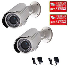 2x Security Bullet Camera with SONY EFFIO CCD 42 IR LEDs Day Night Outdoor A10