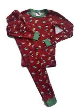 Hanna Andersson 140 winter birds pajamas pjs sleepwear excellent! girl red