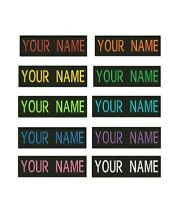"Custom Embroidered Name Tag Sew on Patch Motorcycle Biker Patches 4"" x 1"" (B)"