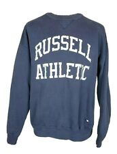 VTG Russell Athletic Mens XL Spellout Navy Pullover Sweatshirt Made In USA