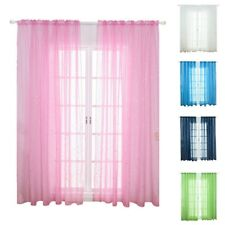 1PC Tulle Voile Curtains Balcony Bedroom Window Sheer Drape Shinny Star Decor