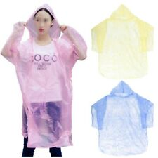 20PCS Disposable Rain Coat Raincoat Adult Unisex Hood Poncho for Travel Camping