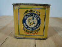Rare FREE SAMPLE Vintage Arm & Hammer Baking Soda Tin Litho 2 oz. Can