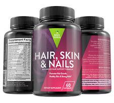Premium Natural Hair, Skin & Nails Treatment by Naturo Sciences - 60 Capsules