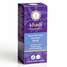 KHADI HERBAL HAIR COLOUR PURE INDIGO BLACK LONG LASTING COLOUR CERTIFIED PRODUCT
