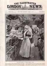 1918 London News June 1 - Enfermeras en Hospital Tren; Pozieres Quemaduras;