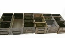 [Lot of 6] Vintage Industrial Parts Drawers, Military Green Retro Steampunk