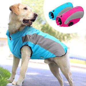 Dog Winter Coat Waterproof Warm Jacket Reflective Medium Large Pitbull Clothes