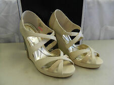 Baby Phat New Womens Juno Nude Wedge Sandals 7.5 M Shoes