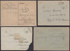 German Reich 1939-1940 ☀ Feldpost covers / postcard ☀ 4v used
