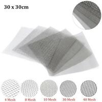 4/8/10/30/40 Mesh Stainless Steel Woven Wire Filter Fine Sheet 30cm Square