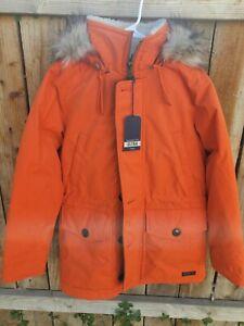 Abercrombie & Fitch Hooded Ultra Parka Jacket Orange Men's Size S NWT Ships FREE