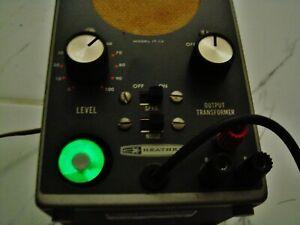 HEATHKIT MODEL IT-12 SIGNAL TRACER POWERSUP,TUBE LITES UP,SPEAKER WORKS W/ Probe