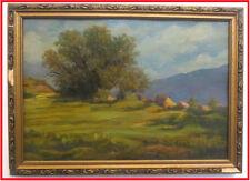 1986 Orig. ARMENIA VILLAGE Landscape Painting- ARMENIAN art KOBIAN Kobyan Կոբյան