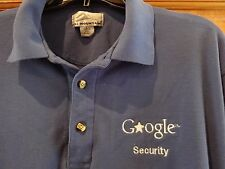 GOOGLE SECURITY  LONG SLEEVE POLO SHIRT BY TRI-MOUNTAIN, ROYAL BLUE SIZE LARGE