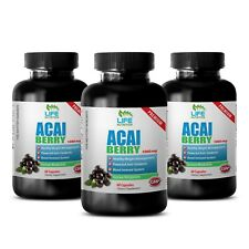 Acai Berry Detox Ultimate Fat Burner - Acai Berry Extract 1200mg - Metabolism 3B