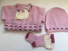 Cashmirino Baby Girl Cashmere Gift Set - 6 months