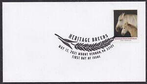 US 5590 Heritage Breeds American Cream Draft Horse BWP FDC 2021