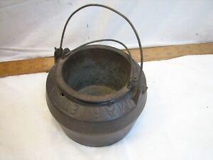 Antique Marietta Cast Iron Gypsy 00 Glue Pot Double Boiler Kettle Lead Melting