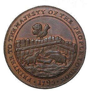 1795 Great Britain Middlesex Eaton's Halfpenny Conder Token D&H-301