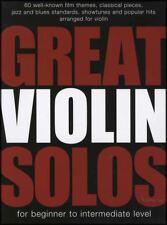 Great Violin Solos Beginner to Intermediate Sheet Music Book