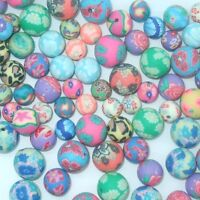 50 X ROUND POLYMER FIMO CLAY BEADS SIZES  8mm, 10mm & 12mm OR MIXED BAG B12