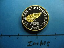 DETROIT RED WINGS NHL 1997 STANLEY CUP CHAMPS HOCKEY 999 SILVER GOLD COIN #3128