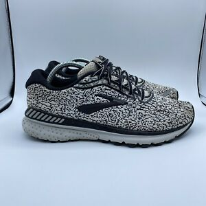 Brooks Mens Adrenaline GTS 20 (1103071D156) White Black Running Shoes Size 9.5 D