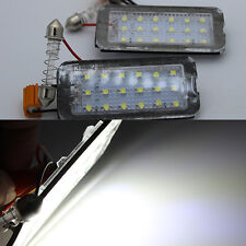 2x Error Free White LED Number License # Plate lights Lamp for Fiat 500 500C
